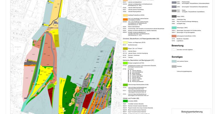 Karte Biotoptypenkartierung Gleisdreieck